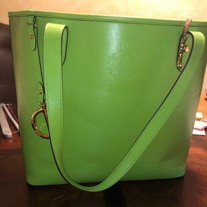 Beautiful Green Ralph Lauren Large Tote!
